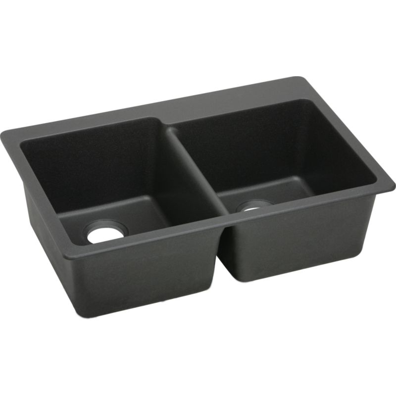 Elkay E-granite Stainless Steel Double-Bowl Top-Mount Sink