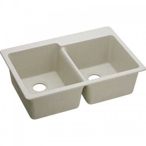 Elkay E-Granite Double-Bowl Top-Mount Sink