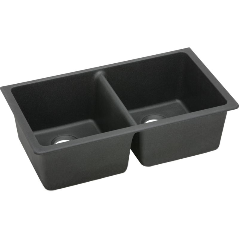 Elkay E-granite Double-Bowl Undermount Sink