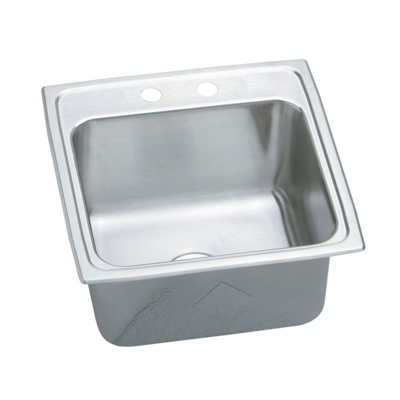 Elkay Pursuit 19-1/2-In Stainless Steel 18 Gauge Single-Bowl Drop-In Sink