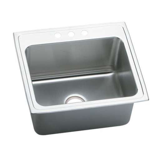 Elkay Pursuit 25-In Stainless Steel 18 Gauge Single-Bowl Drop-In Sink