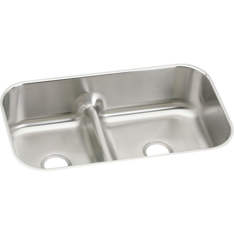 Elkay Gourmet Stainless Steel Double-Bowl Undermount Sink