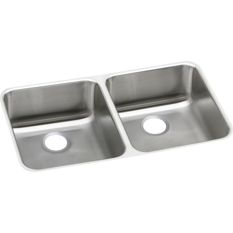 Elkay Lustertone Stainless Steel Double-Bowl Undermount Sink