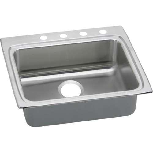 Elkay Lustertone 25-In 18 Gauge Stainless Steel Single-Bowl Top-Mount Kitchen ADA Sink