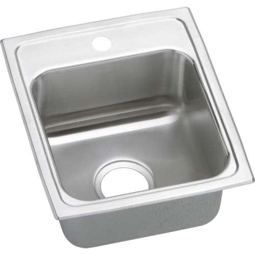 Elkay Lustertone Classic 15-In 18 Gauge Single-Bowl Drop-In ADA Sink