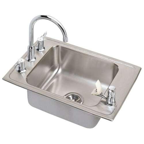 Elkay Lustertone Stainless Steel Single-Bowl Top-Mount Sink With Faucet Kit