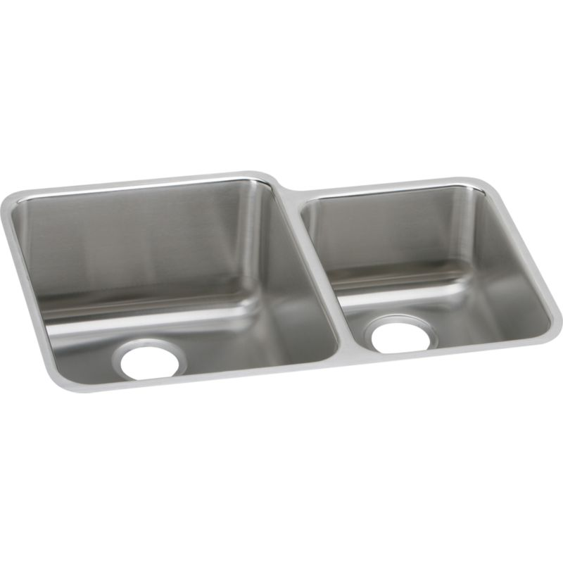 Elkay Gourmet Lustertone Stainless Steel Double-Bowl Undermount Sink