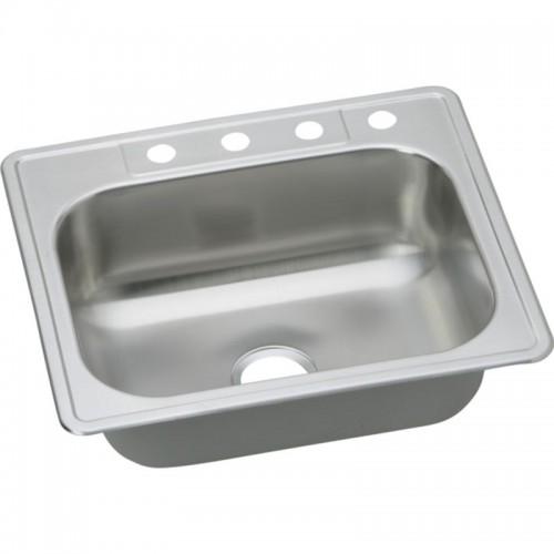 Dayton Elite 25-In Stainless Steel Single-Bowl Top-Mount Sink