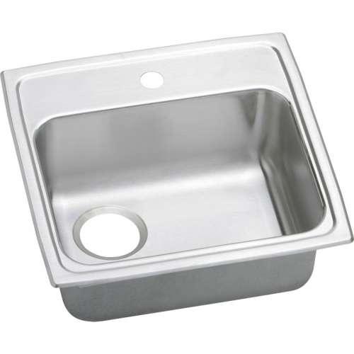 Elkay Pacemaker 19-1/2-In 20 Gauge Stainless Steel Single-Bowl Drop-In ADA Kitchen Sink