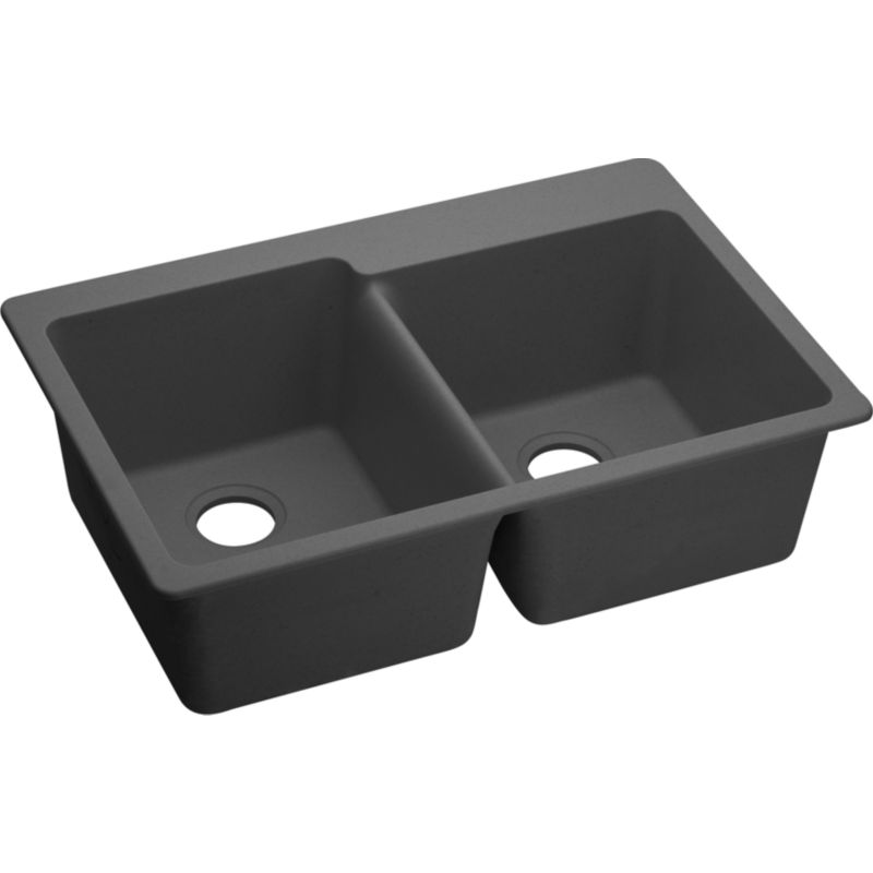 Elkay Gourmet Granite Double-Bowl Top-Mount Sink
