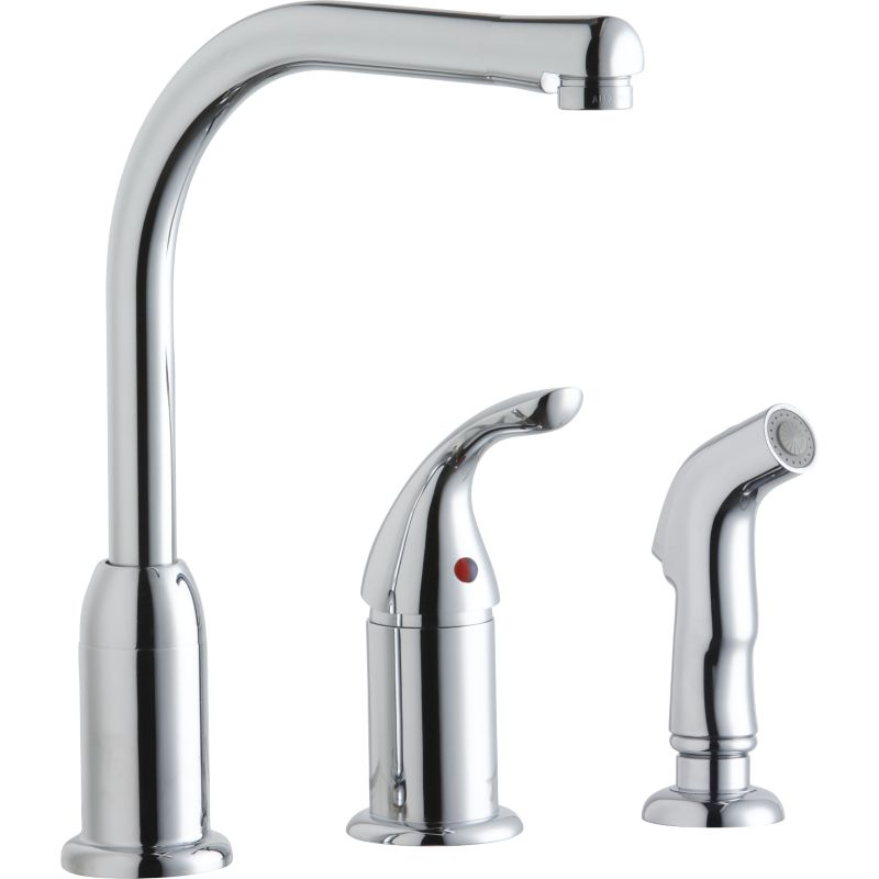 Elkay Everyday 3-Hole Kitchen Faucet With Remote Handle