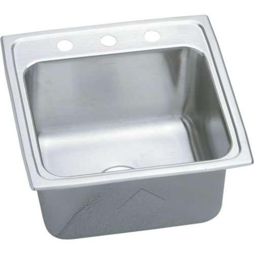 Elkay Lustertone Classic 19-1/2-In Stainless Steel 18 Gauge Single-Bowl Drop-In Sink