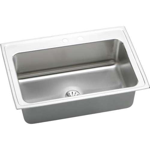 Elkay Lustertone 33-In 18 Gauge Stainless Steel Single-Bowl Top-Mount Kitchen Sink