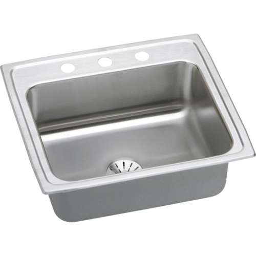 Elkay Lustertone Classic 25-In 18 Gauge Stainless Steel Single-Bowl Top-Mount Kitchen Sink