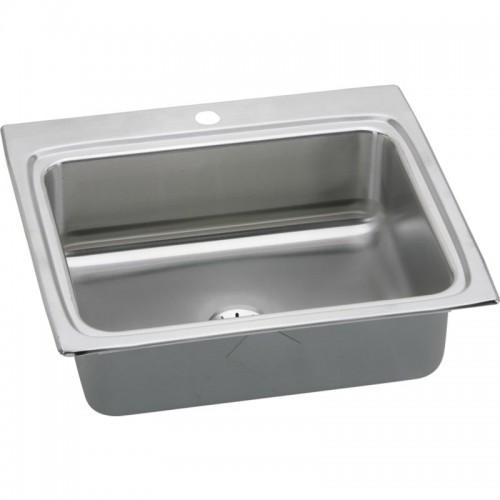 Elkay Gourmet Lustertone Stainless Steel Single-Bowl Top-Mount Sink Kit