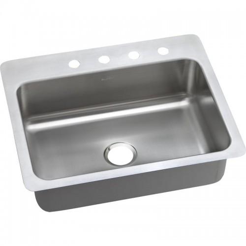Dayton Elite 27-In Stainless Steel Single-Bowl Dual-Mount Sink