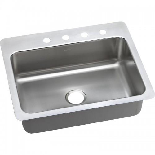 Elkay Gourmet Lustertone Stainless Steel Single-Bowl Dual-Mount Sink
