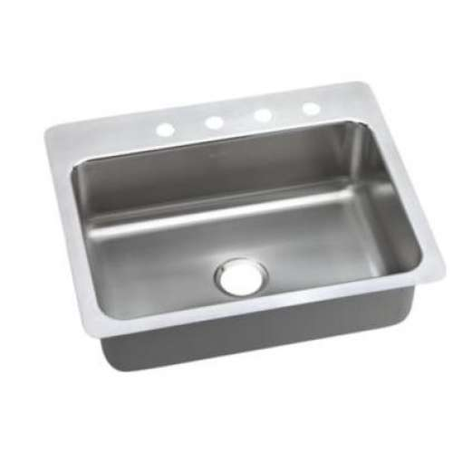 Elkay Pacemaker 27-In 18 Gauge Stainless Steel Single-Bowl Dual-Mount Kitchen Sink