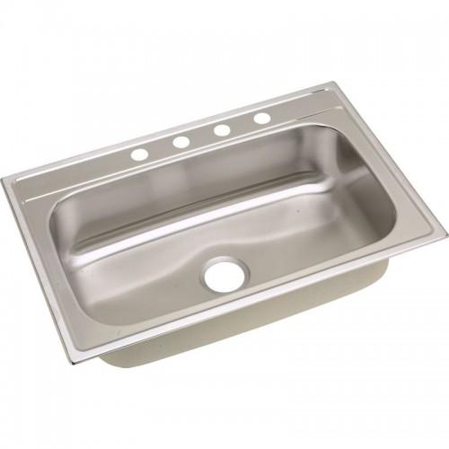 Dayton Premium 33-In Stainless Steel Single-Bowl Top-Mount Sink