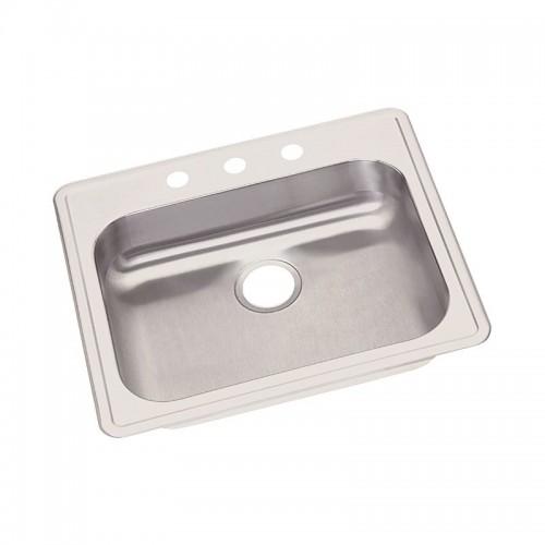 Dayton 25-In Stainless Steel Single-Bowl Top-Mount Sink