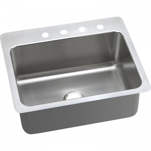 Elkay Lustrous Highlighted Satin Stainless Steel Single-Bowl Dual-Mount Sink
