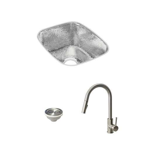Elkay Gourmet Stainless Steel 16-In Undermount Kitchen Sink Kit With Kitchen Sink, Faucet, Strainer
