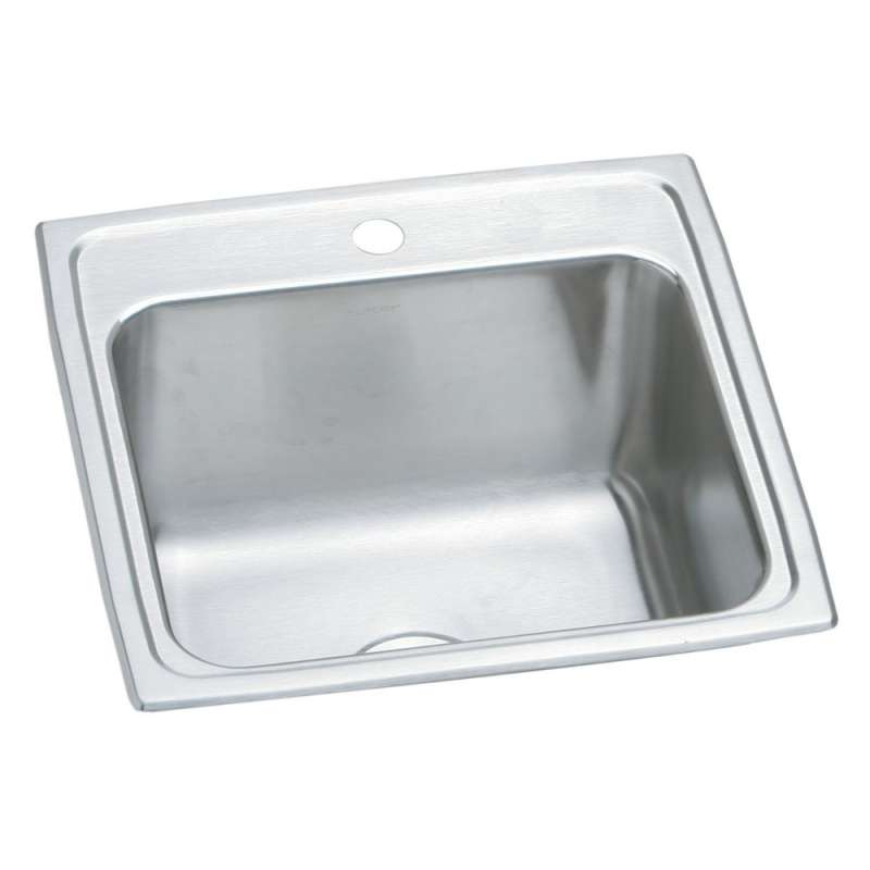 Elkay Pursuit 19-1/2-In Stainless Steel 18 Gauge Single-Bowl Drop-In Sink