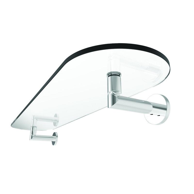 Ginger Sine 24-In Tempered Glass Shelf