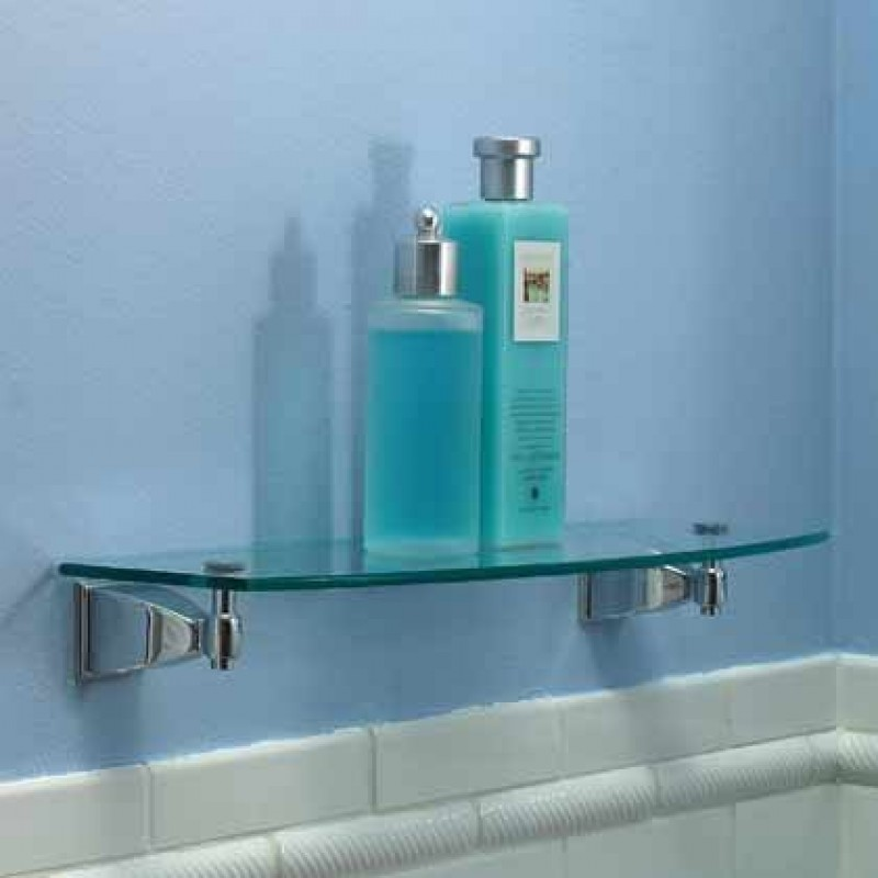 Ginger 24-In Glass Shelf