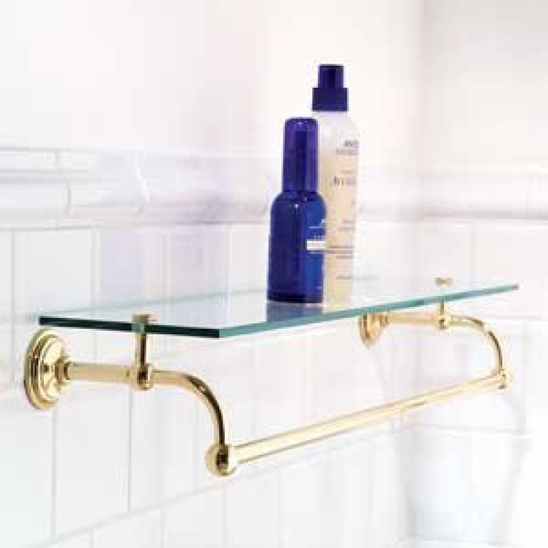 Ginger 24-In Shelf With Towel Bar