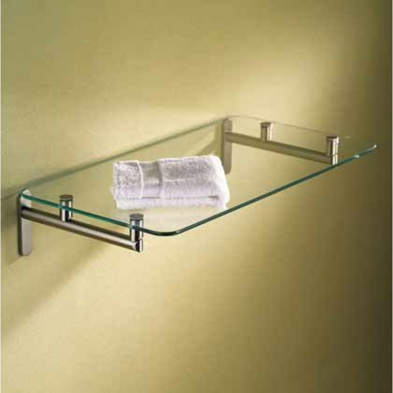 Ginger Sine 20-In Tempered Glass Hotel Shelf