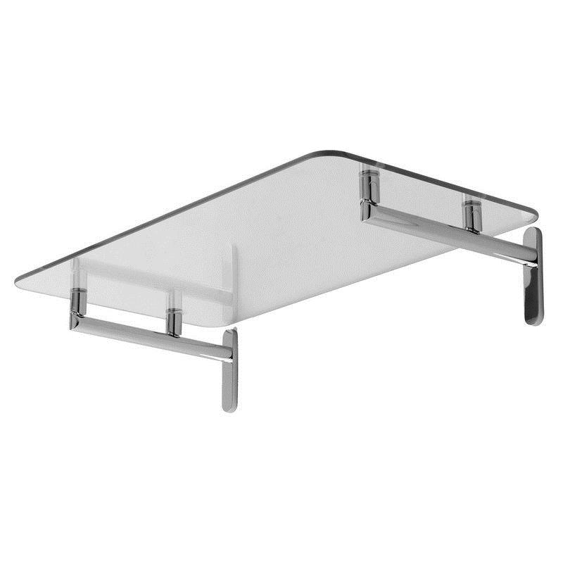 Ginger Sine 24-In Tempered Glass Hotel Shelf