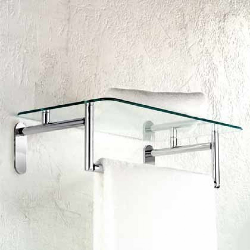 Ginger Sine 20-In Hotel Shelf With Towel Bar
