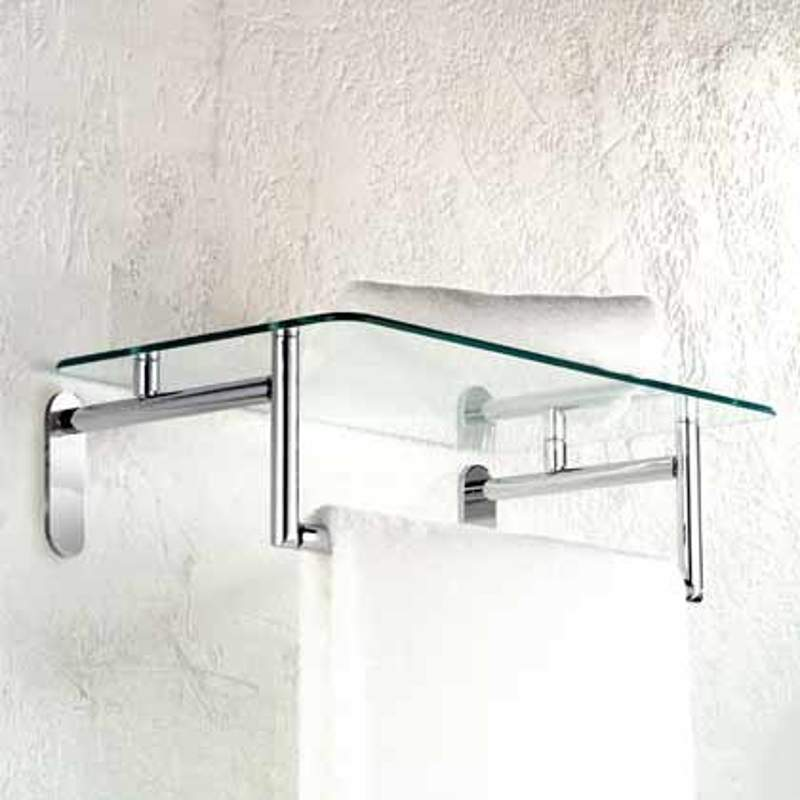 Ginger Sine 24-In Hotel Shelf With Towel Bar