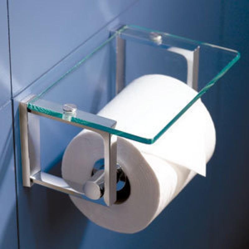 Ginger Frame Tempered Glass Toilet Paper Holder