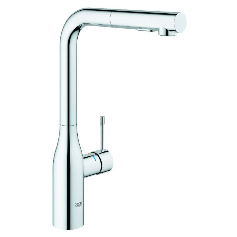 Grohe Essence Single Handle Kitchen Faucet In Starlight Chrome