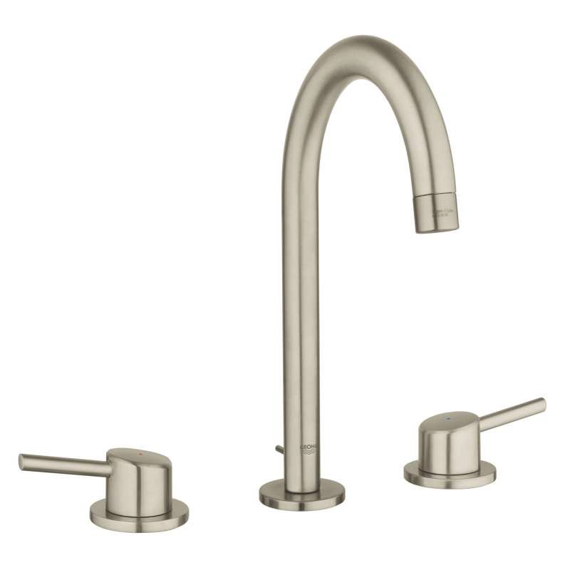 Grohe Concetto L-Size Bathroom Faucet with High Arc Spout In Brushed Nickel