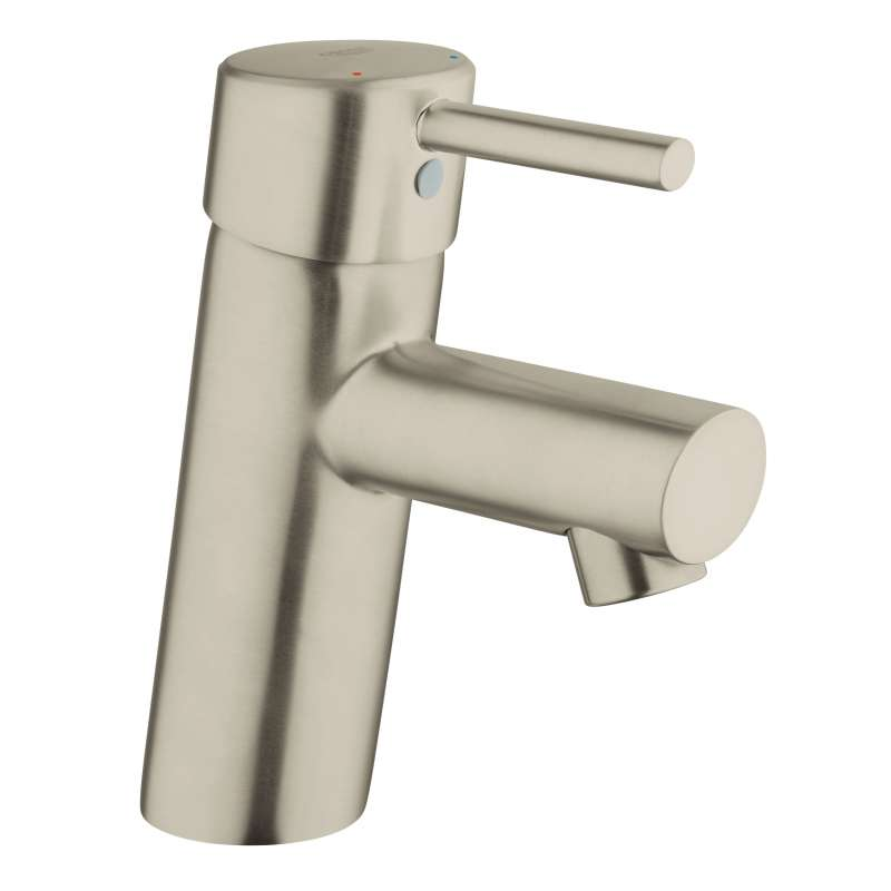 Grohe Concetto S-Size Bathroom Faucet with Fixed Spout In Brushed Nickel