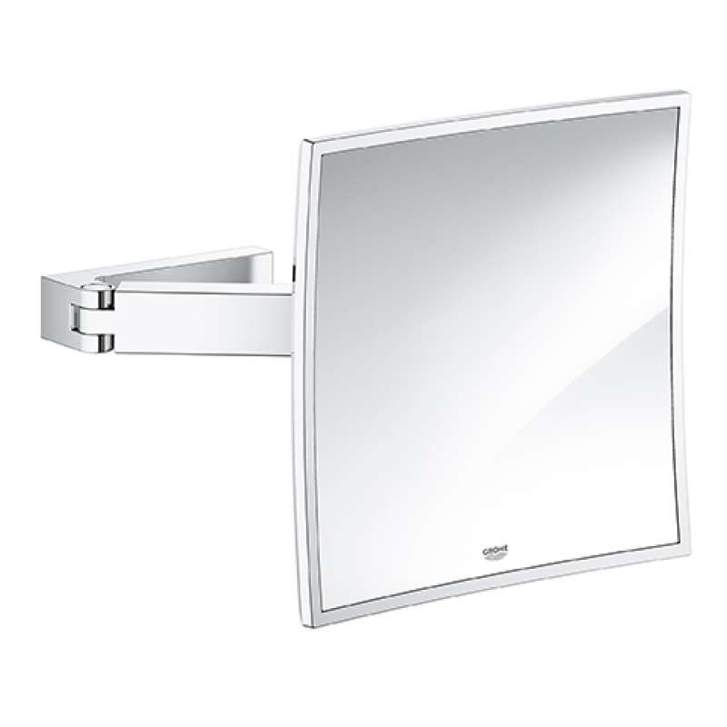 Grohe Selection Cube Glass/Metal 9.06-in. Cosmetic Mirror
