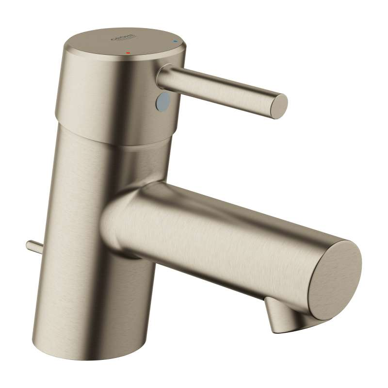 Grohe Concetto XS-Size Bathroom Faucet with Fixed Spout In Brushed Nickel