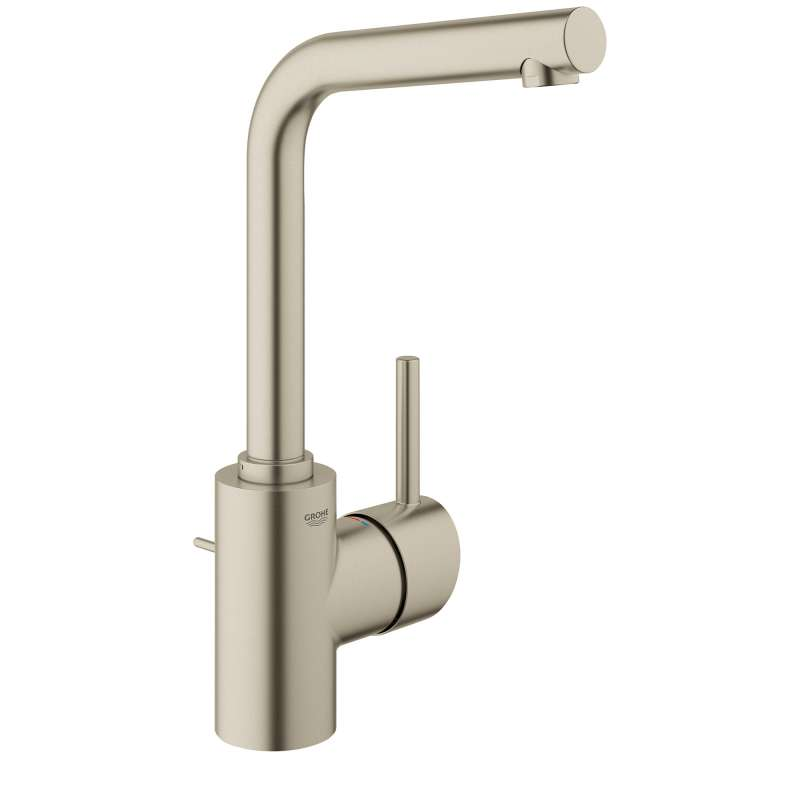 Grohe Concetto L-Size Bathroom Faucet with Swivel Spout In Brushed Nickel