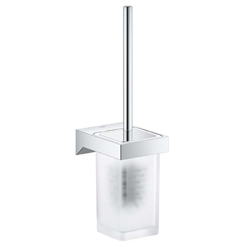 Grohe Selection Cube Metal 15.75-in. Toilet Brush Set