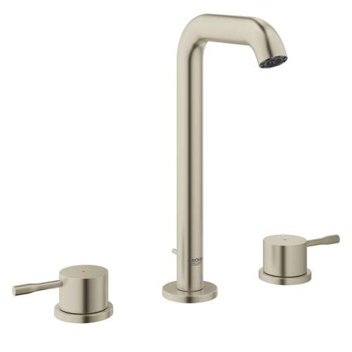 Grohe Essence L-Size Bathroom Faucet with Fixed Spout In Brushed Nickel