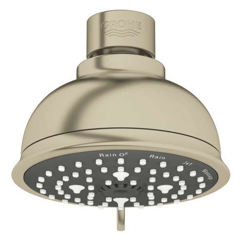 Grohe New Tempesta Rustic 1.75 GPM 4-Spray Fixed Shower Head