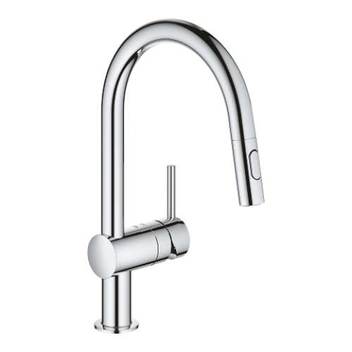 Grohe Minta Single Hole Pullout Swivel Kitchen Faucet - In Multiple Colors