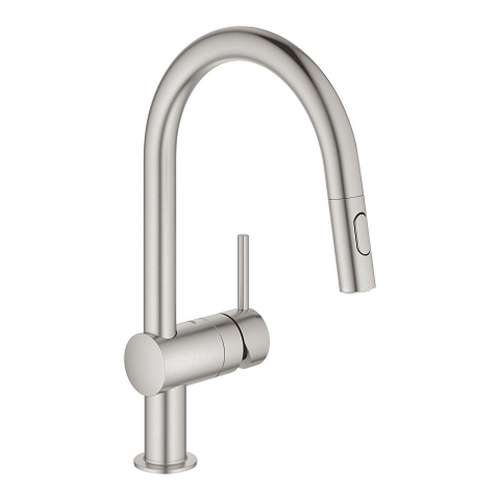 Grohe Minta Single Hole Pullout Swivel Kitchen Faucet