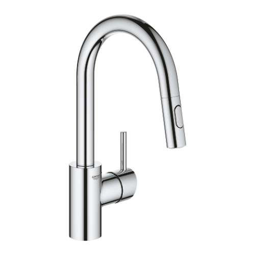Grohe Concetto Single Hole Pullout Swivel Kitchen Faucet - In Multiple Colors