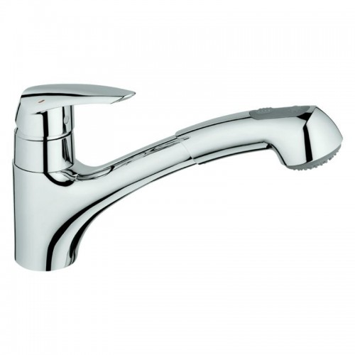 Grohe Eurodisc Single-Handle Pull-Out Kitchen Faucet