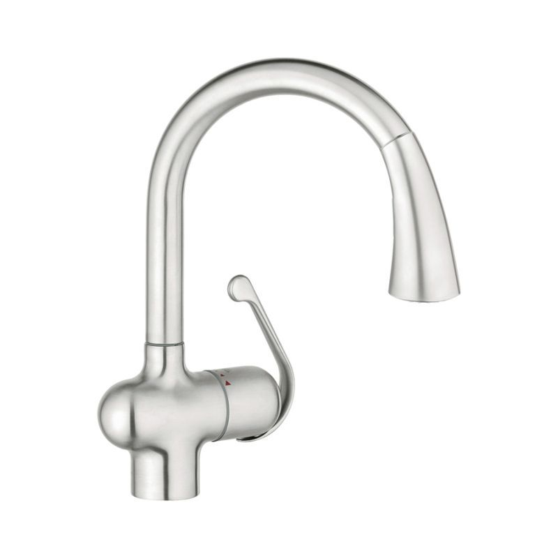Sale Grohe LadyLux Single Handle Kitchen Faucet With Pull Out Sprayer