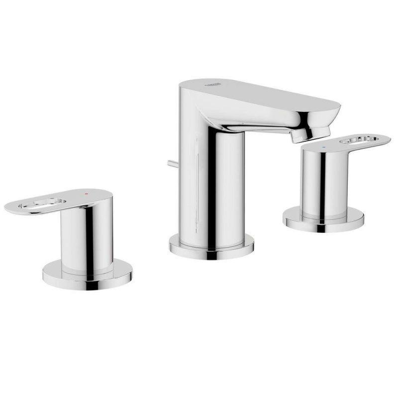 Grohe BauLoop 3-Hole Wideset Bathroom Faucet